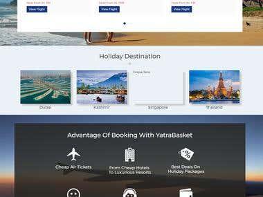 Yatra Basket (Travel Booking Portal)