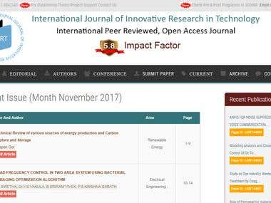Science Journal Website