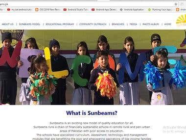 its a school website site