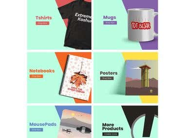 THEIKSTORE   WOOCOMMERCE SITE WITH DYNAMIC IMAGES
