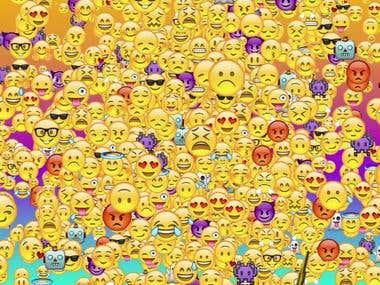 Emoji explosion