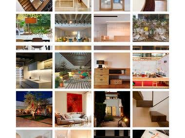 Interior design studio web site