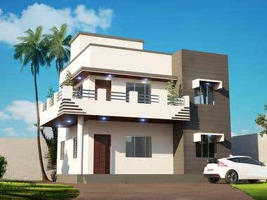 elevation design and rendering..
