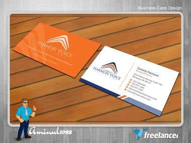 Professional, unique and clean business Card