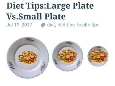 Diet Tips: Large Plate Vs. Small Plate