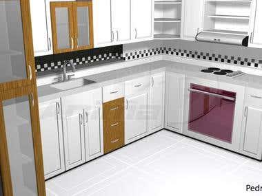Modelado 3D Cocina
