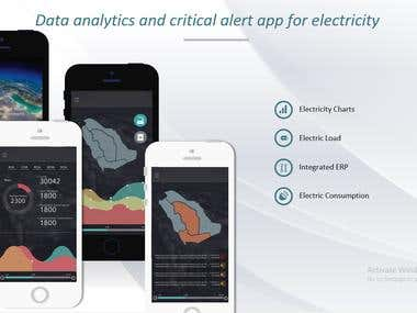 Data analytics and critical alert app for electricity