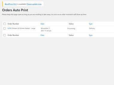WooCommerce (WordPress) Print Orders Auto Pilot