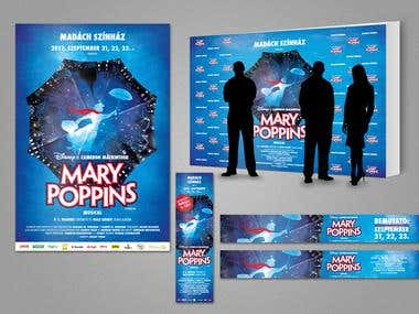 print design for the play 'Mary Poppins'