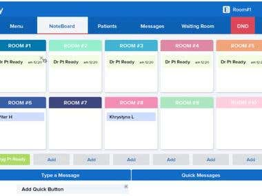 Patient tracking system with chat