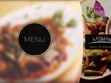 Restaurant Menu Card Designs -