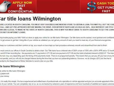 wilmingtoncartitleloans.biz(Content Writing Project)