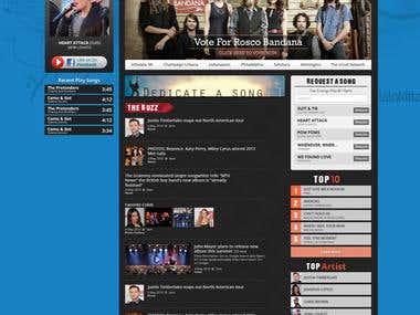 WordPress Template for U-Rock Network