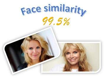 Face similarity detection