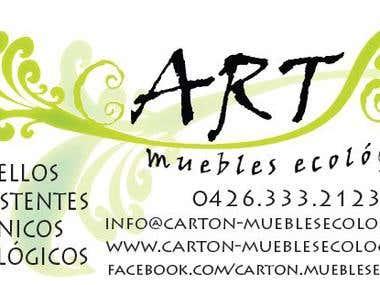 Business Card cartón - muebles ecológicos