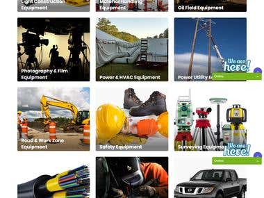 Equipment Rental eCommerce Website