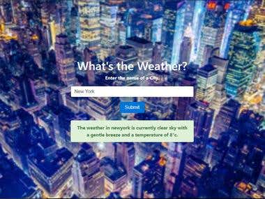 Weather Forecast Web App