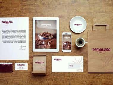 Temaleka coffee startup branding
