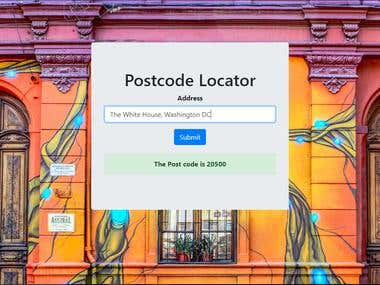 Postcode Locator Web App