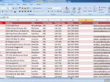 Data Entry Word ---> Excel