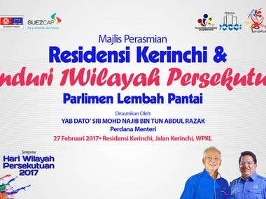 Design Banner Launching of Kerinchi Resident