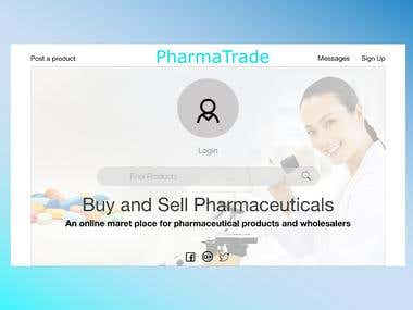 PharmaTrade Web UI Design