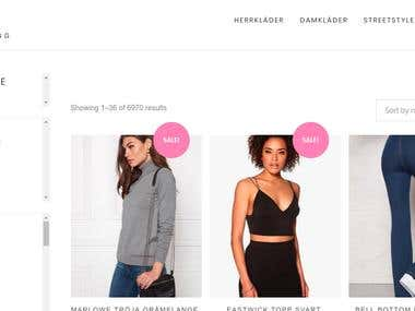 Clothing website - ecommerce - online shopping