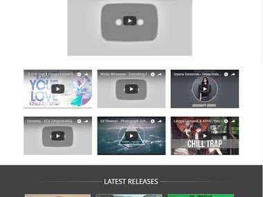 Web for Artist/Music Producer/DJ/Public Figure