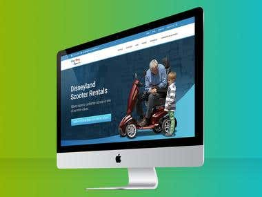 Scooter Rental Web Design Concept
