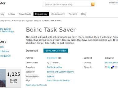"Author of the famous ""Boinc Task Saver"" powershell script"