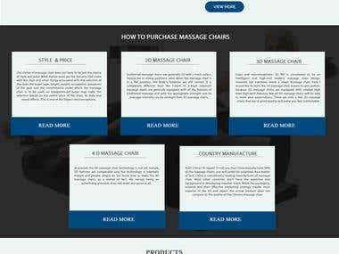 Massage Chair Website Design