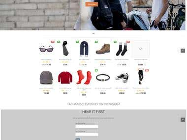 One page eCommerce website
