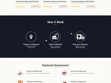 Mokup design for Restaurent website