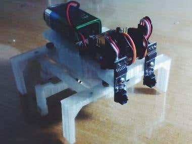 Arduino - Hexapod robot with 9g servos