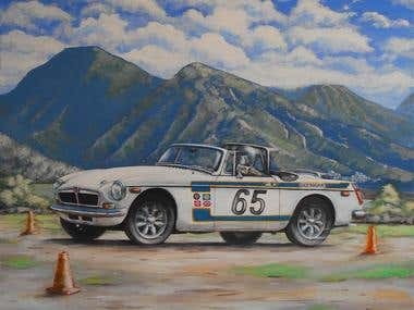 """Commisioned painting """"White lightning"""""""