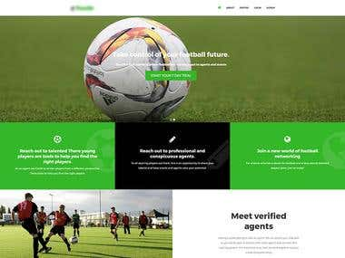 Website for Football players and Agents