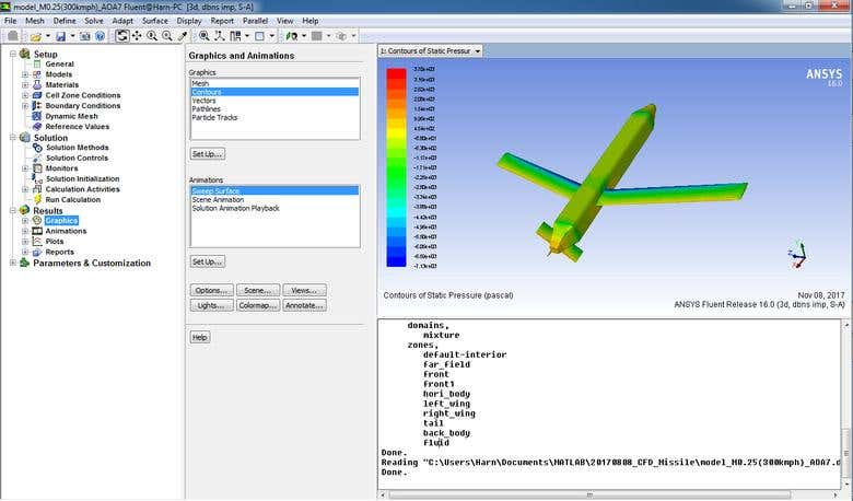 ANSYS FLUENT Simulation for Fire-Shadow Munition system
