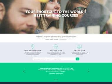 E-Learning - Website for Online Course