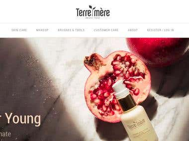 Magento based cosmetics website