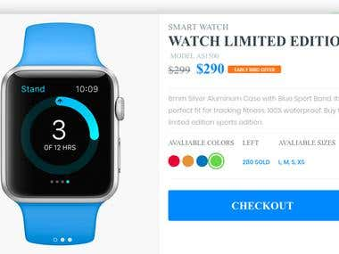 Sel online watches Stripe integrated