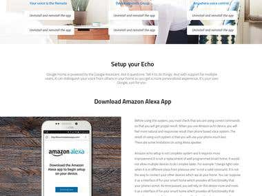 Amazon-Echo-Dot Landing page