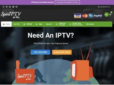 Development of a IP Tv website