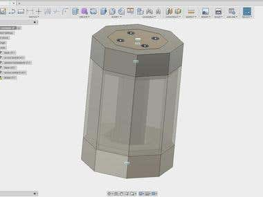 CAD/3D printing/Arduino/Product Design - Concrete lamp