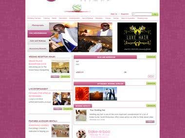 Wedding based Website.