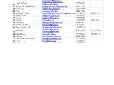 Data Scrap from Website