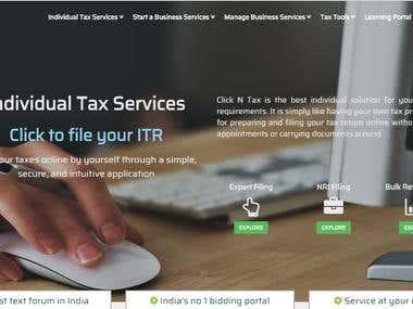 Clickntax bidding portal