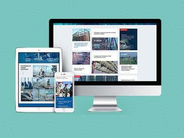 Cool redesign of corporate site