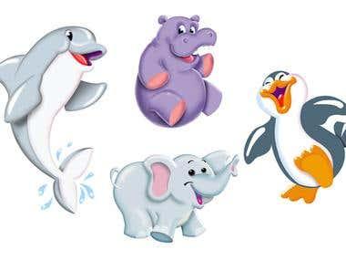 ilustración personajes productos Melody