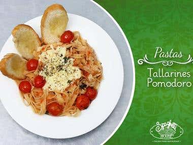 """Design and Photography for Social media campaign """"Spaghetti"""