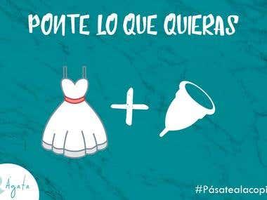 """Social Media Campaign for """"La Copita Menstrual"""""""